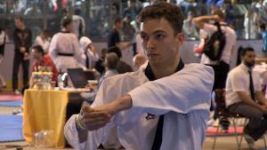 """Neben dem Zweikampf ist auch der Formenlauf - beim Taekwondo """"Pomsaee"""" genannt - Teil vom wettkampfprogramm bei den Berlin Open im Taekwondo"""