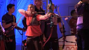 Nur Platz 2 im Bundesliga Bogenschießen Finale: Karina Winter vom Bogensportclub BB-Berlin