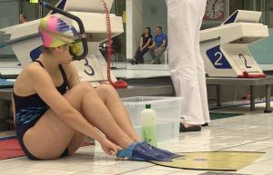 Monoflosse und Schnorchel - die Ausrüstung beim Finswimming