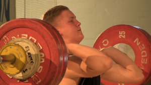 Erik Ludwig ging bei der IDJMM im Gewichtheben an den Start
