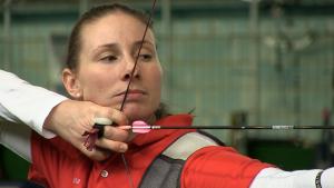 Das Ziel fest im Visier: Karina Winter will zu den Olympischen Spielen nach Rio
