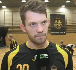 Lukas Brockmann vom BAT Berlin war erfolgreichster Torschütze im Spiel gegen die Piranhhas Hamburg