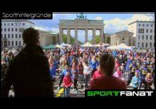 Auch eine Tanzeinlage war beim Flashmob #SportstadtBerlin dabei!