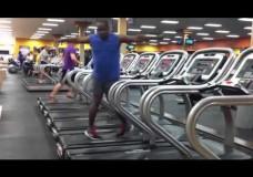 Tanzsport auf dem Laufband