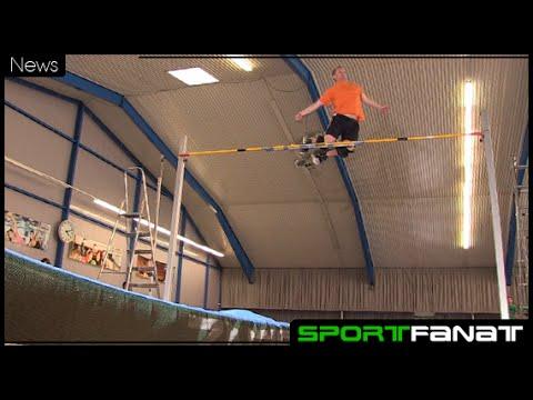 Lars Oetken mit Weltrekord im Sprungstelzen-Hochsprung