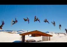 Extreme Snow Kitesurfing