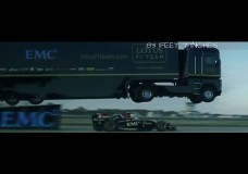 LKW Stunt zum Abheben