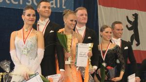 Felix Fürstenberg und Friederike Tentschert sicherten sich den Titel in der HGR B bei der Berliner Meisterschaft im Tanzen