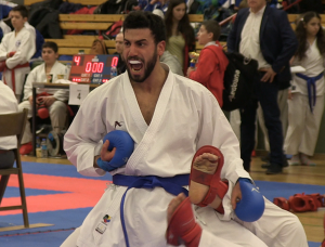 Der Siegerschrei - Mehmet Bolat vom SC Banzai gewinnt bei seinem Comeback die Berlin Open im Karate!