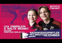 Lea Enderlein und Malte Brandt – Nachwuchssportler des Monats Dezember 2020