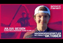 Julius Geisen  – Nachwuchssportler des Monats Oktober 2021