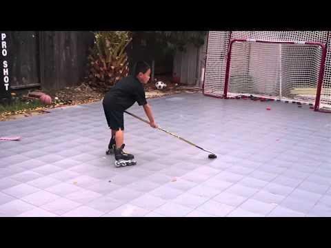 Inline-Skaterhockey Trickshot